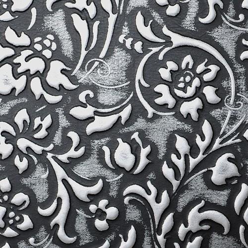 LL FLORAL Black/Silver matt