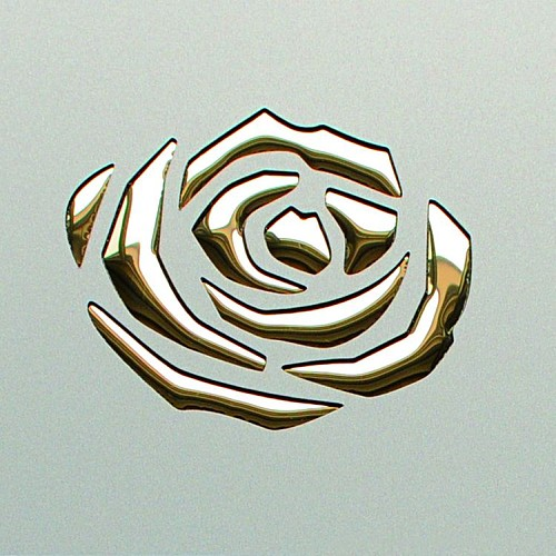 3D ROSES Champagne PF met/Gold